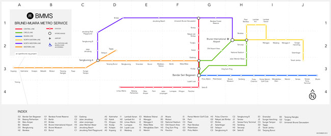Our map for the 'Brunei-Muara Metro Service'