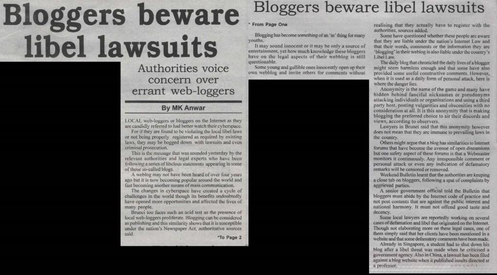 Bloggers beware libel lawsuits
