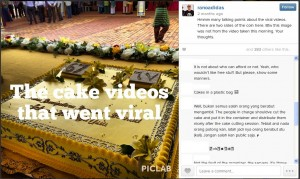 Ranoadidas Cake videos went viral