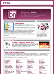 Screenshot Simpur Blogging Nation