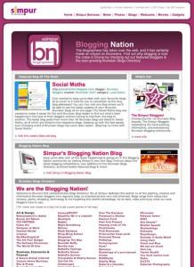 Screenshot Simpur Blogging Nation