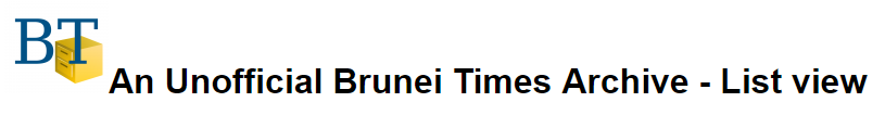 Logo - Unofficial Brunei Times Archive