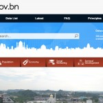 Screenshot showing Main page on Data.gov.bn